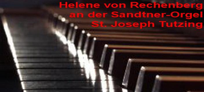 Helene von Rechenberg an der Sandtner-Orgel in St. Joseph Tutzing