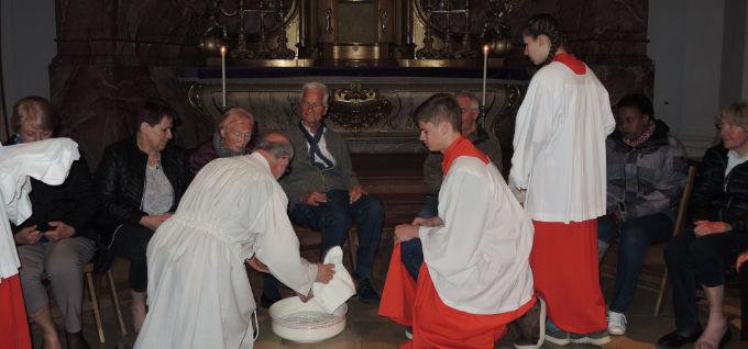 Abendmahlgottesdienst mit Fußwaschung
