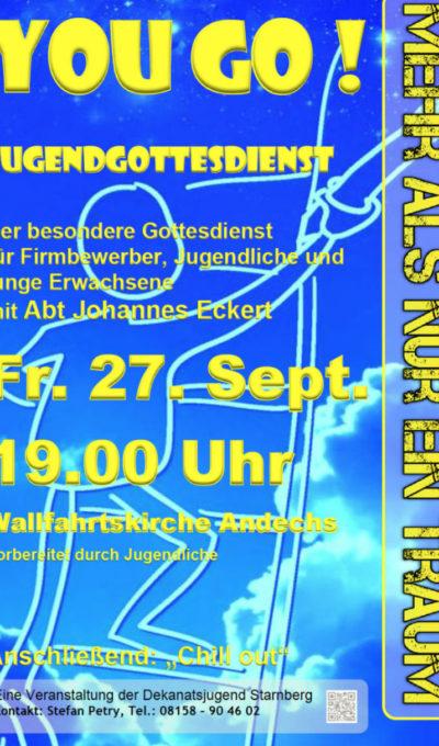 Jugendgottesdienst am 27.09. um 19:00 Uhr