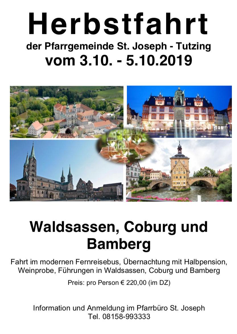 Herbstfahrt der Pfarrgemeinde am 03.10.2019