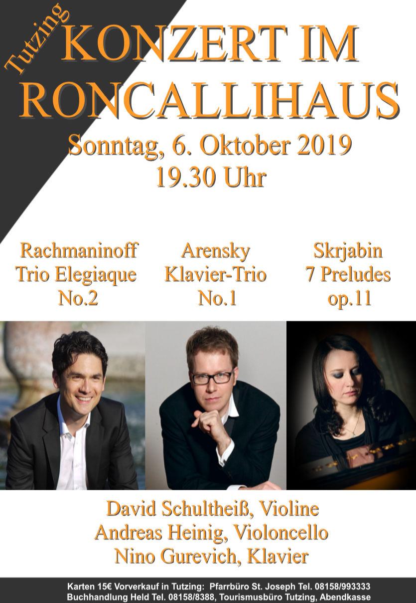 Konzert im Roncallihaus am 06.10.2019