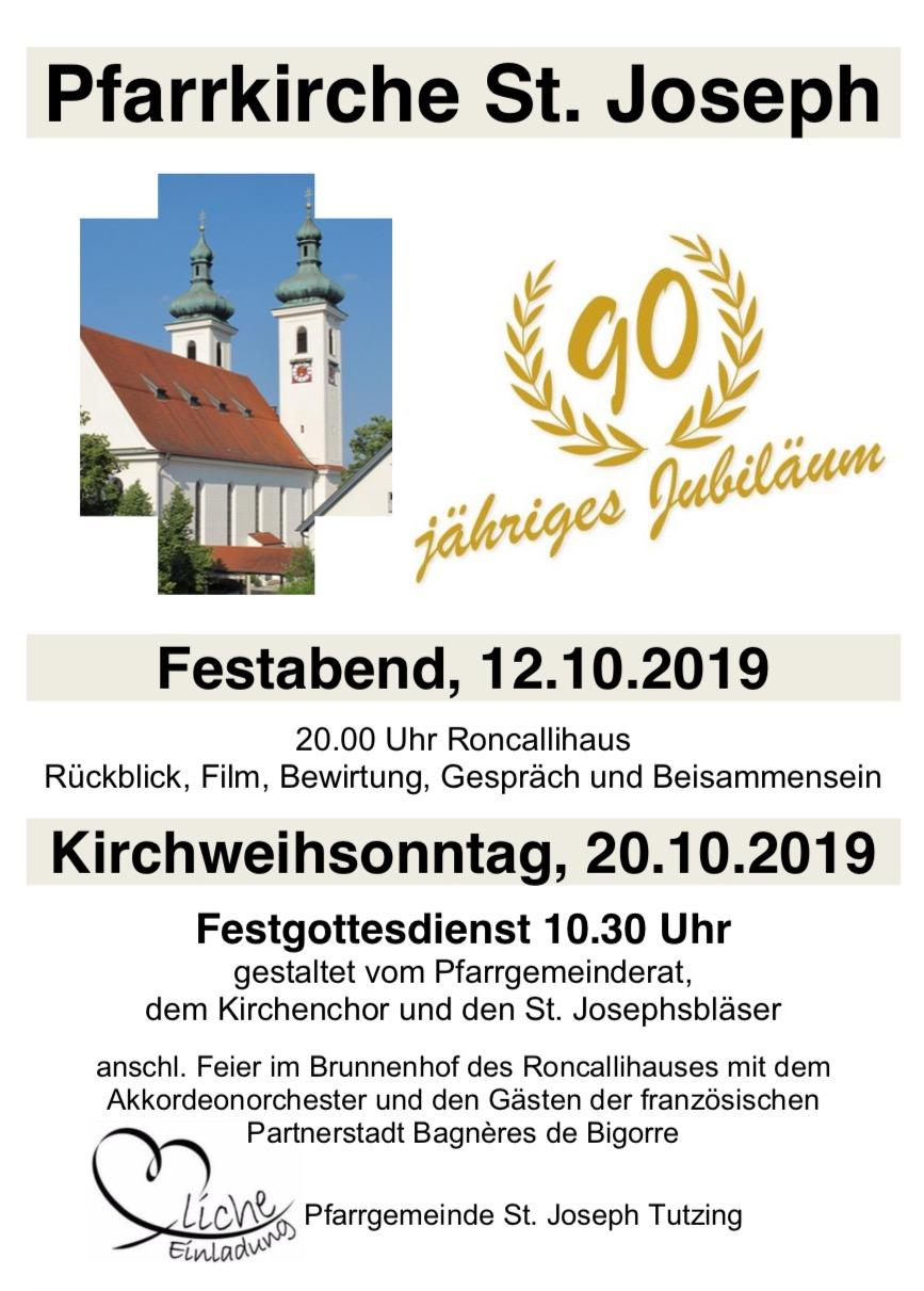 90 jähriges Jubiläum ab 12.10.2019