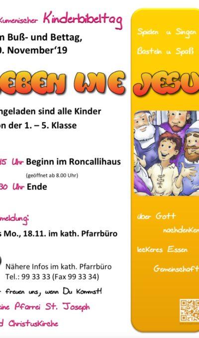 Ökumenischer Kinderbibeltag am 20.11.