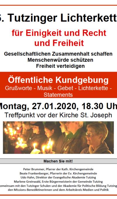 6. Tutzinger Lichterkette am 27.01.2020