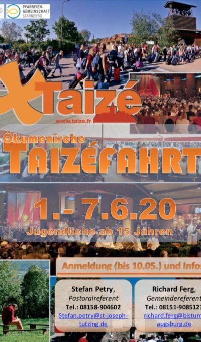 Taizéfahrt 01.06.-07.06.2020
