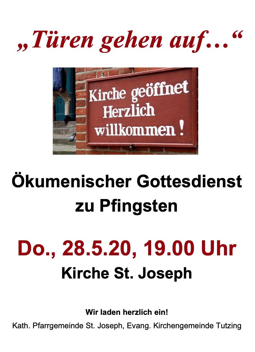 Ökumenischer Gottesdienst zu Pfingsten am 28.05.2020