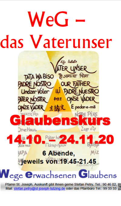 Glaubenskurs 14.10.-24.11.2020