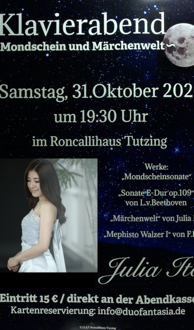 Klavierabend am 31.10.2020