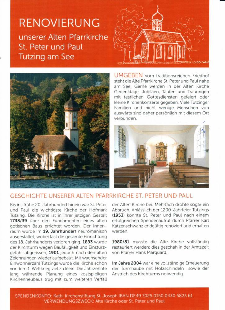 Renovierung St. Peter und Paul 2021