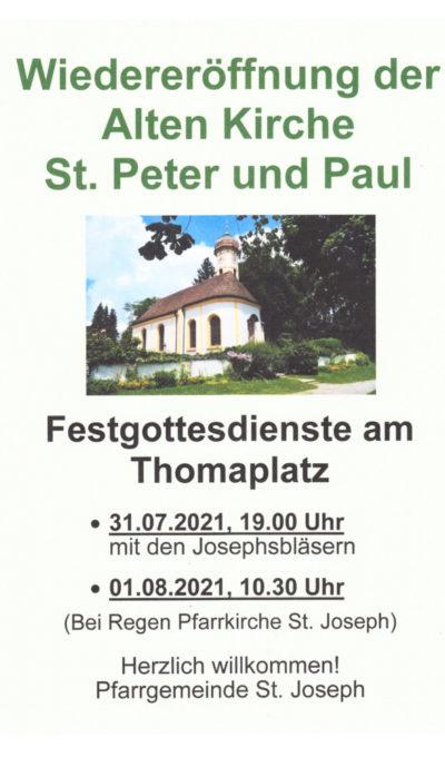 Festgottesdienste zur Wiedereröffnung der Kirche St. Peter und Paul